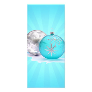 BLUE & SILVER ORNAMENTS by SHARON SHARPE Rack Cards