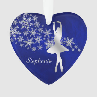 Blue Silver Snowflake Dancer Ornament