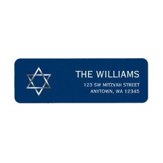 Blue Silver Star of David Bar Mitzvah