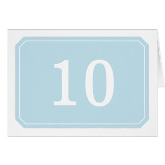 Blue Simply Elegant Table Number Card