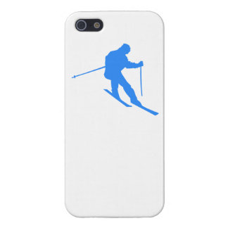 Blue Skier Case For The iPhone 5