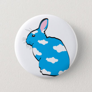 BLUE SKIES 2 INCH ROUND BUTTON