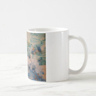 Blue skies abstract art coffee mug