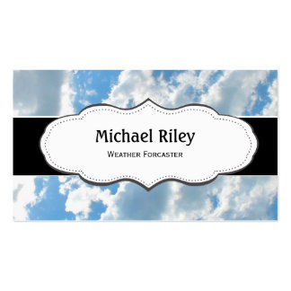Blue skies and clouds Business Cards