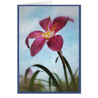 Blue Skies and Fairy Lilies Blank Note Card