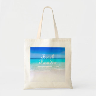 Blue Skies And Sandy Beach Ocean Paradise Tote Bag