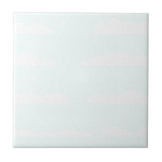 Blue Skies Background Ceramic Tile