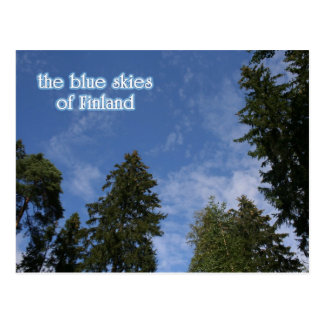 Blue Skies of Finland Postcard