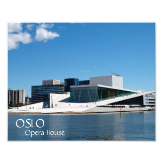 Blue skies over the Oslo Opera House, Norway Art Photo