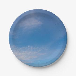 Blue Skies Paper Plate