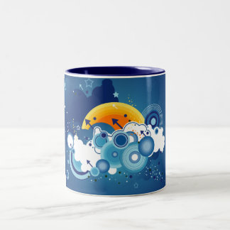 Blue Skies Two-Tone Coffee Mug