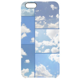 Blue Skies & White Clouds Collage Clear iPhone 6 Plus Case