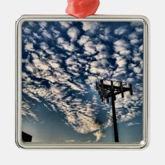 Blue Skies with Scattered Clouds - HDR Metal Ornament