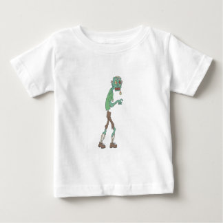Blue Skinned Creepy Zombie With Rotting Flesh Outl Baby T-Shirt