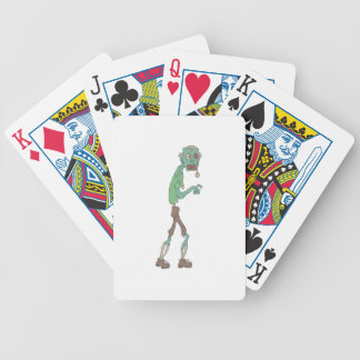 Blue Skinned Creepy Zombie With Rotting Flesh Outl Bicycle Playing Cards