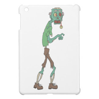 Blue Skinned Creepy Zombie With Rotting Flesh Outl Cover For The iPad Mini