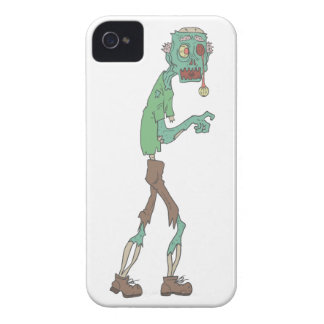 Blue Skinned Creepy Zombie With Rotting Flesh Outl iPhone 4 Cover