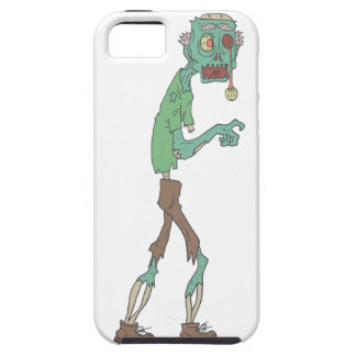 Blue Skinned Creepy Zombie With Rotting Flesh Outl iPhone 5 Case