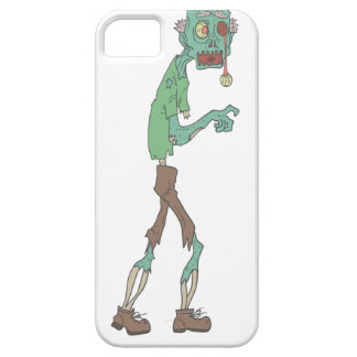 Blue Skinned Creepy Zombie With Rotting Flesh Outl iPhone 5 Cover