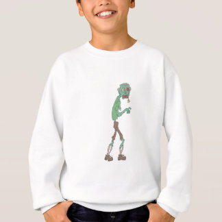 Blue Skinned Creepy Zombie With Rotting Flesh Outl Sweatshirt