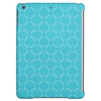 Blue Skull and Bones pattern iPad Air Case