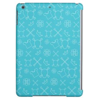 Blue Skull and Bones pattern iPad Air Covers