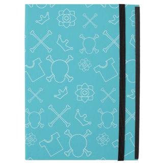 "Blue Skull and Bones pattern iPad Pro 12.9"" Case"