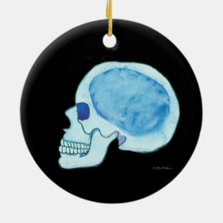 Blue Skull Circle Ornament