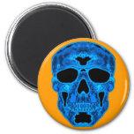 Blue Skull Horror Mask Fridge Magnets