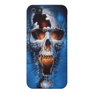 Blue Skull iPhone 5 Matte Finish Case Cover For iPhone 5/5S