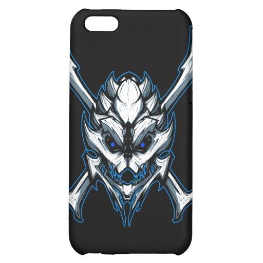 Blue Skull iPhone 5C Cases