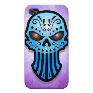Blue Skull iPhone 4/4S Cases