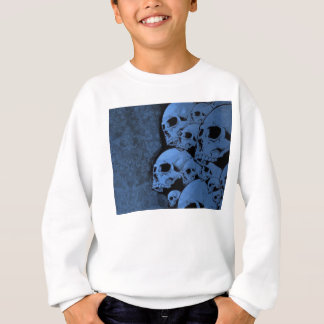Blue skull pattern sweatshirt