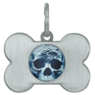 Blue Skull Pet Name Tags