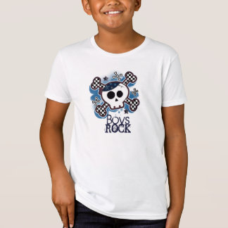 Blue Skull Punk Rocker Rock Boys Custom T-Shirt