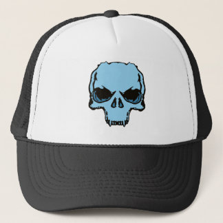 Blue Skull Trucker Hat