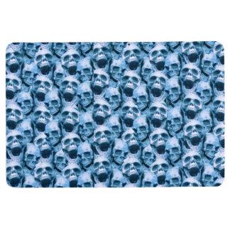 Blue Skulls Floor Mat