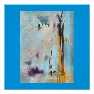"""Blue Sky"" Abstract poster"