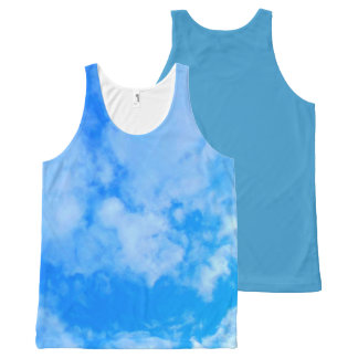 Blue Sky  All-Over Printed Unisex Tank