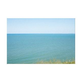 Blue Sky and Blue sea Peaceful Ocean Photography Canvas Prints
