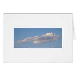 BLUE SKY AND CLOUDS BLANK NOTE CARD