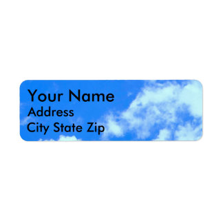 Blue Sky and Clouds Return Address Labels