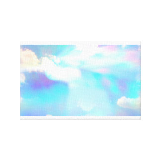 Blue sky and clouds through prism canvas print