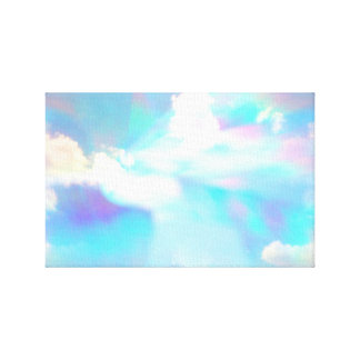 Blue sky and clouds through prism  window. canvas print