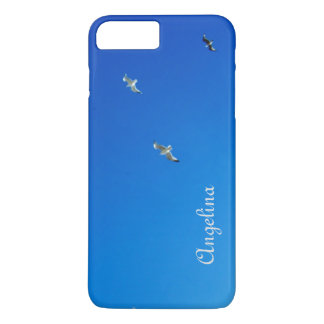 Blue Sky and Gulls Cornwall Photograph iPhone 7 Plus Case