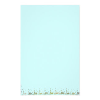 Blue Sky and Leaves Stationary Stationery