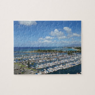 Blue Sky and Marina in Hawaii Puzzle