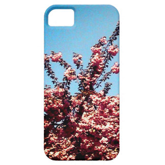 Blue Sky and Pink Leaves Case For The iPhone 5