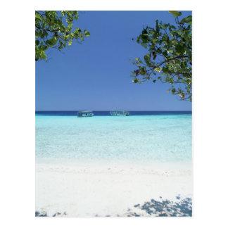 Blue sky and sea 9 postcard