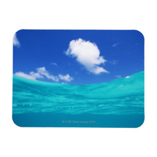 Blue sky and sea magnet